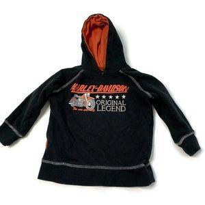 Harley Davidson Black Pull Over Hoodie Sweater